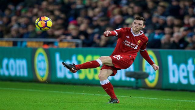 Andrew Robertson ha reiterado su deseo de jugar en la final de Champions League