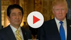 Shinzo Abe and Donald Trump in discussions about North Korea