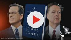 Stephen Colbert interviews James Comey about his book 'A Higher Loyalty'