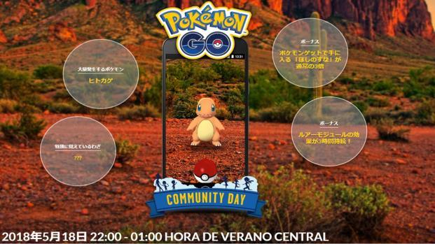 Charmander sera el siguiente Pokémon del Community Day