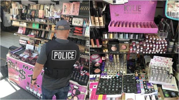 La polizia di Los Angeles ha sequestrato cosmetici contraffatti contenenti feci