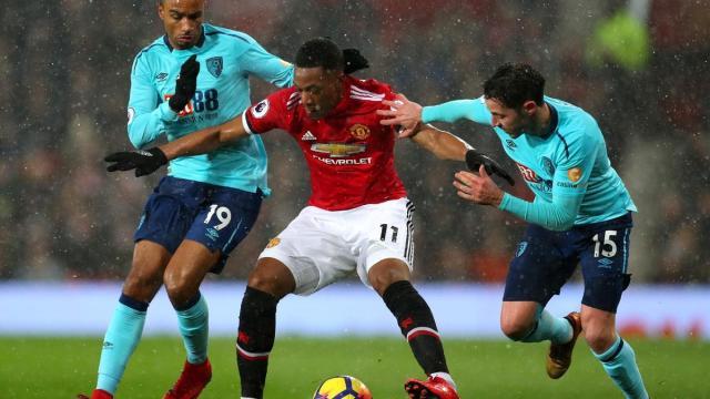 Alineaciones del Manchester United ante Bournemouth