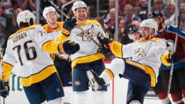 Los Predators golean al Avalanche y se enfilan a la 2da ronda vs Winnipeg