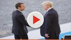 Usa e Francia: il bacio tra Trump e Macron 'Mi piace un sacco'