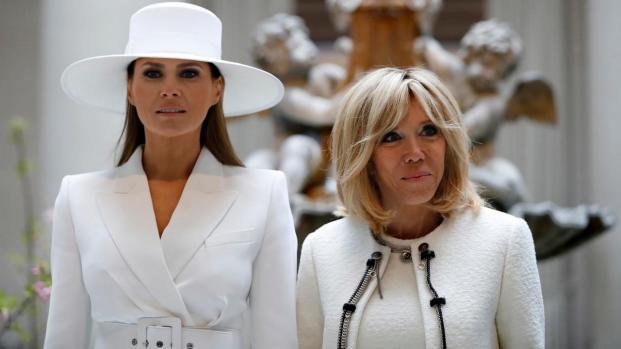 Brigitte Macron et Melania Trump très complices