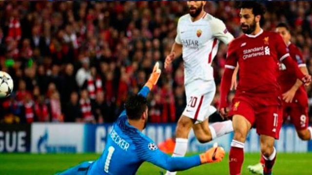 Salah encabeza la goleada de 5-2 del Liverpool sobre la Roma en Anfield