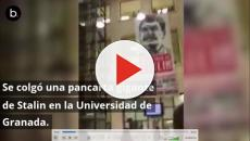 La Universidad de Granada cuelga una pancarta de Stalin