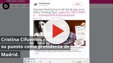 Dimisión de Cristina Cifuentes: reacciones,comentarios y memes