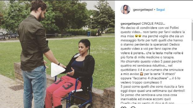 Georgette Polizzi, da Temptations Island al dramma della sedia a rotelle