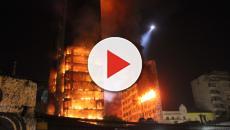 Momentos antes do incêndio, testemunha se atenta à estranha situação no 5° andar