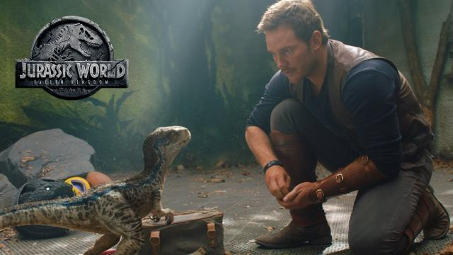 Chris Pratt y el Indoraptor en la revista Total Film's