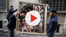 Street Art: Renzi e Berlusconi protagonisti dell'Incendio del Nazareno