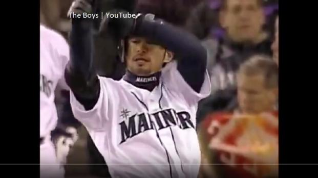 Ichiro Suzuki jogged to join his Seattle Mariners teammates in the outfield