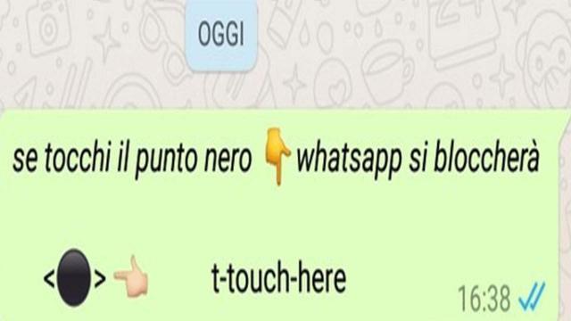 Whatsapp: un messaggio blocca il telefono