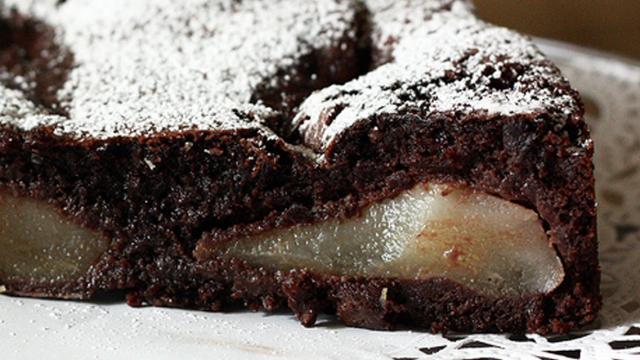 Ricette: Torta di pere e cioccolato
