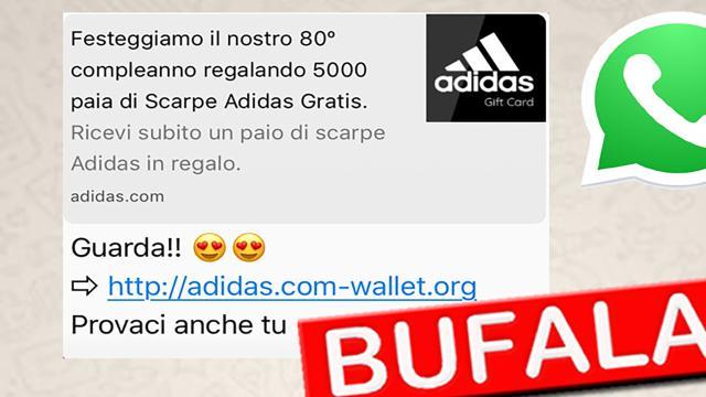 Rubare Sensibili Adidas Scarpe Nuova Whatsapp Truffa Per Dati Sulle I8qYxA7p