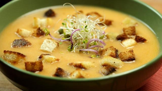 Receta: Sopa crema de calabaza, fácil y de buen sabor