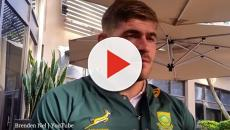 South Africa's Malcolm Marx is out the rugby game in Washington DC