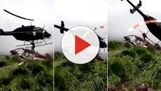 Elicottero di soccorso perde il controllo e falcia uomo