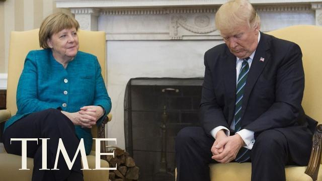 Donald Trump showed Angela Merkel his private living quarters
