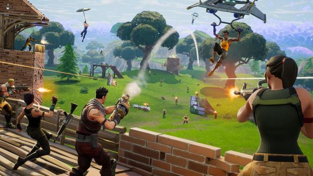 Fortnite Fan encontró un problema en que Thanos puede construir y disparar armas