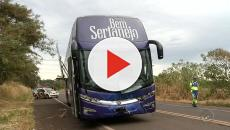 Ônibus de Michel Teló sofre acidente
