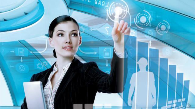 La tecnología de mano con las mujeres