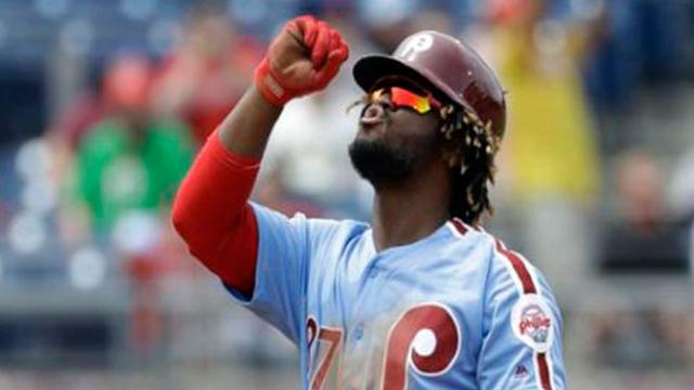 Phillies sorprenden en NL, con el bat de Odúbel más el brazo de Nola