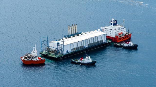 Inauguración de planta de energía nuclear flotante en Rusia