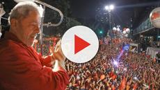 Gleisi Hoffmann lê carta de Lula