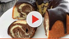 Espresso marble cake with fudge topping recipe