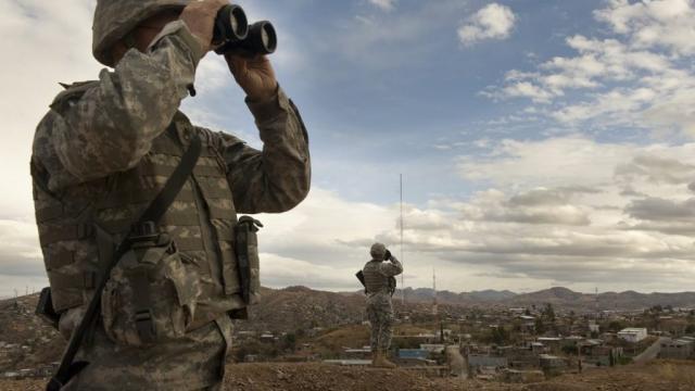 Tropas de Estados Unidos en frontera mexicana tienen limitaciones para vigilar