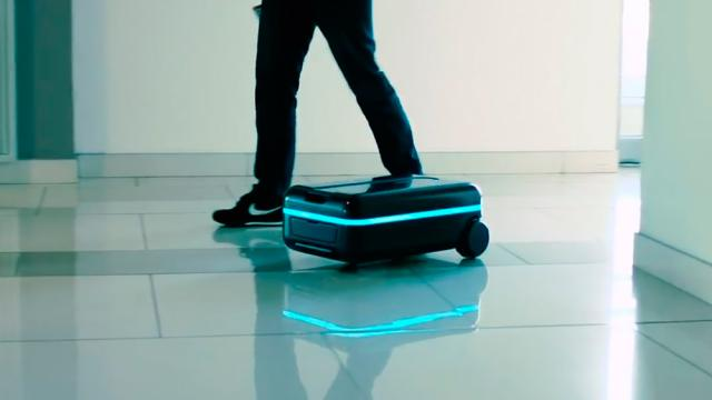 Startup de Pekín diseñó una maleta de robot autónomo con reconocimiento facial