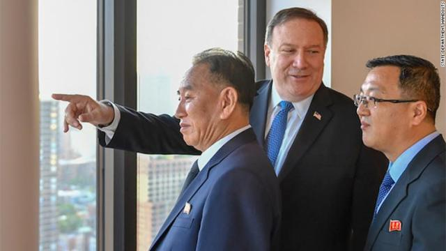 North Korean ex-spy chief Kim Yong Chol  meets with Pompeo in New York