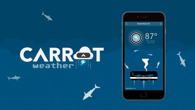 Zanahoria, una aplicación meteorológica que ha llegado a Android
