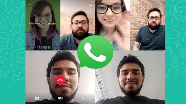 Videollamadas grupales a través de WhatsApp