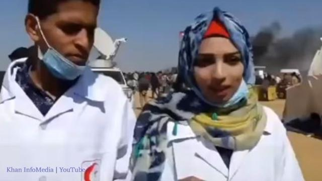Paramedic shot by Israel believed 'without weapons, we can do anything.'