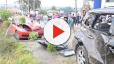 SOROCABA/Câmera de segurança registra carro desgovernado em direção de pedestre
