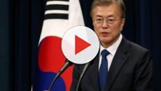 Presidente da Coreia do Sul, Moon Jae-in celebra encontro entre Trump e Kim