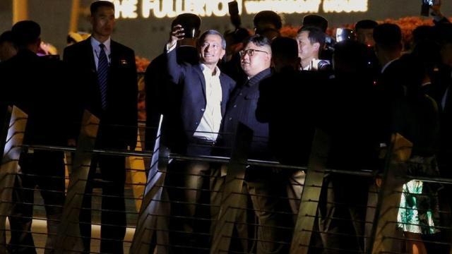 VÍDEO: Kim Jong-un es bien recibido en Singapur