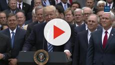 Media footage reveals President Trump returned salute to North Korean General