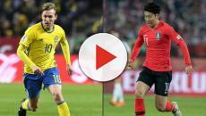 Suécia x Coréia do Sul abrem a segunda de Copa
