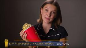 Millie Bobby Brown spoke out against bullying in MTV Movie & TV Awards vid