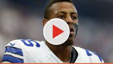 Greg Hardy injures knee during an Arena football game