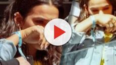 Bruna Marquezine é flagrada por fãs chorando ao ver Neymar indo às lágrimas