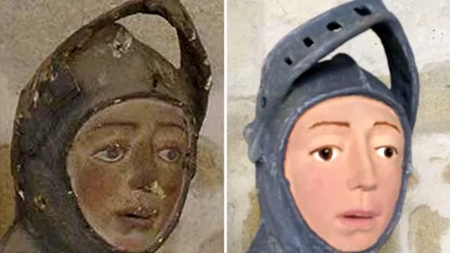 Spanish priceless statue of St. George turned into a cartoon by local teacher