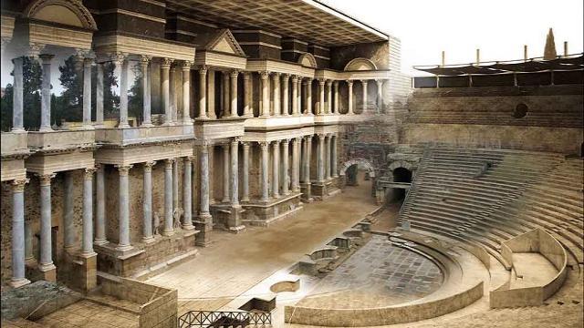 La tecnología 3D recrea el teatro romano de Mérida del S.I a.C