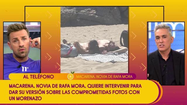 Sálvame: Las fotos de la novia de Rafa Mora, Macarena, en la playa con un chico