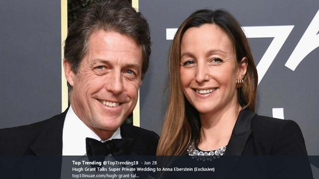Hugh Grant and new wife Anna Eberstein had a bad time on their Paris honeymoon