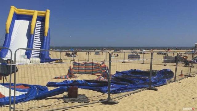 Young girl dies at Norfolk beach after thrown from exploding bouncy castle